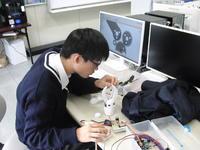 情報電子部ロボットアーム製作